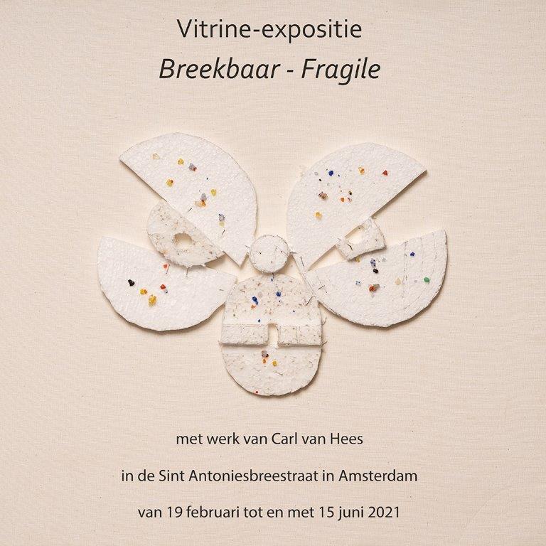 Poster expositie Breekbaar